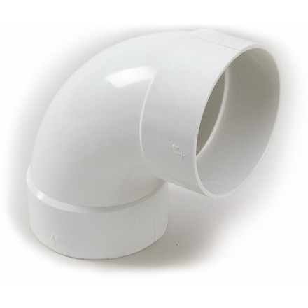3-inch PVC Drainage 90 Degree Long Turn Elbow