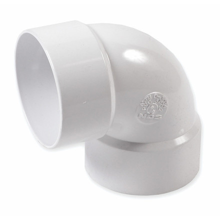 3-inch PVC Drainage 90 degree Elbow