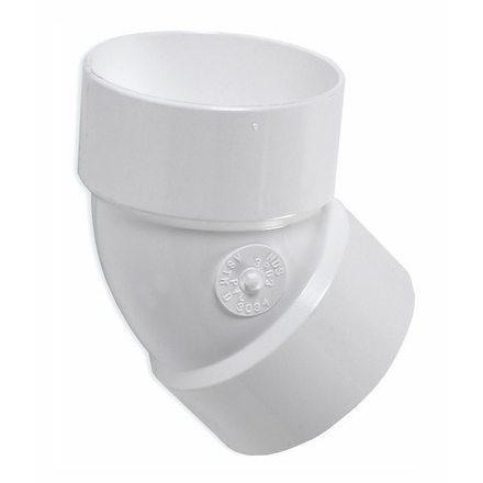 3-inch PVC Drainage 45 degree Elbow
