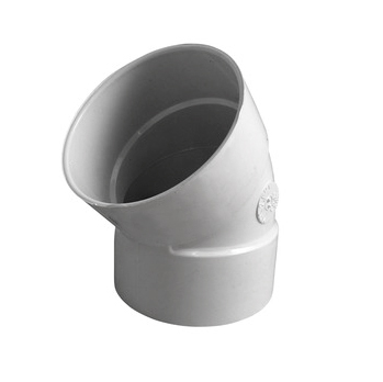 4-inch PVC Drainage 22-1/2 degree Street Elbow