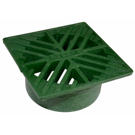 4 in. Square Drain Grate – Green