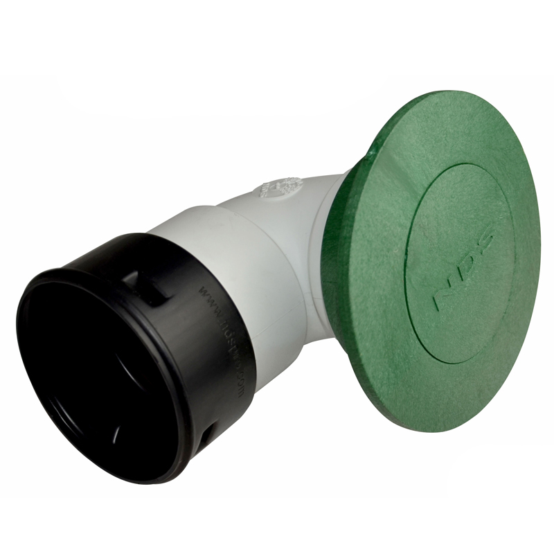 6 in. Pop-Up Drainage Emitter w/ Elbow and Corrugated Pipe Adapter