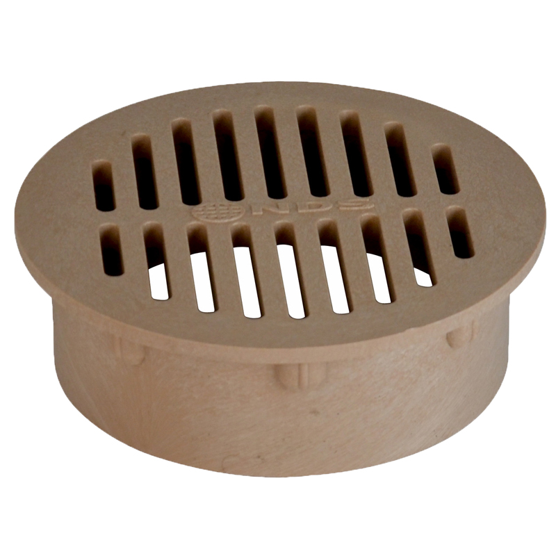 6 in. Round Drain Grate Sand