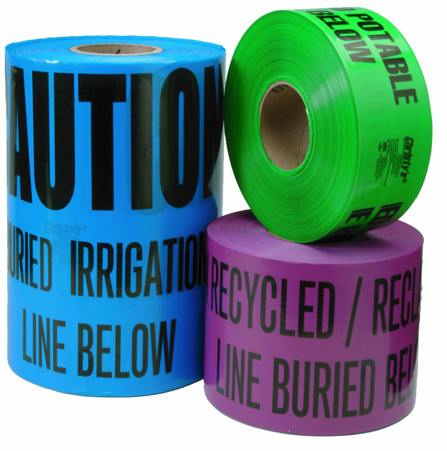 Non-Detectable Blue Potable Water Marking Tape