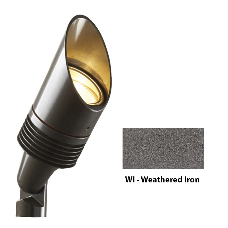 NP 3 LED Zoning and Dimmable Plus Color Up Light In Weathered Iron