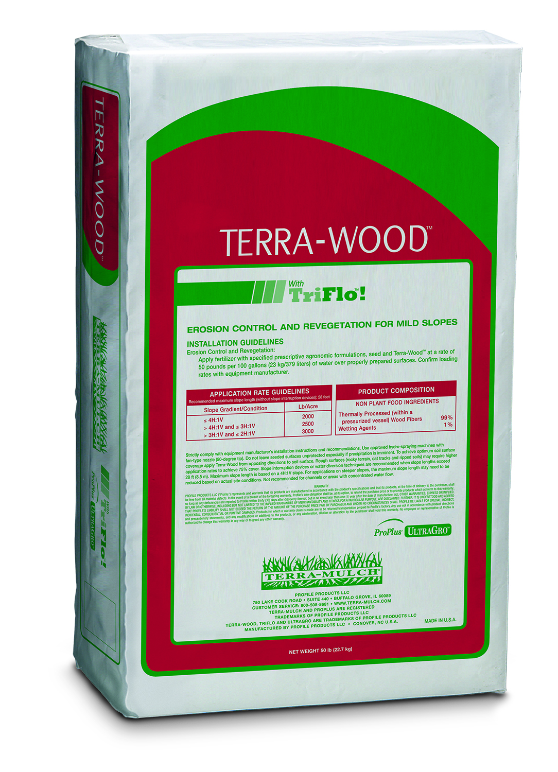 Terra-Wood Hydro-Mulch (East) – 50 lb. Bale