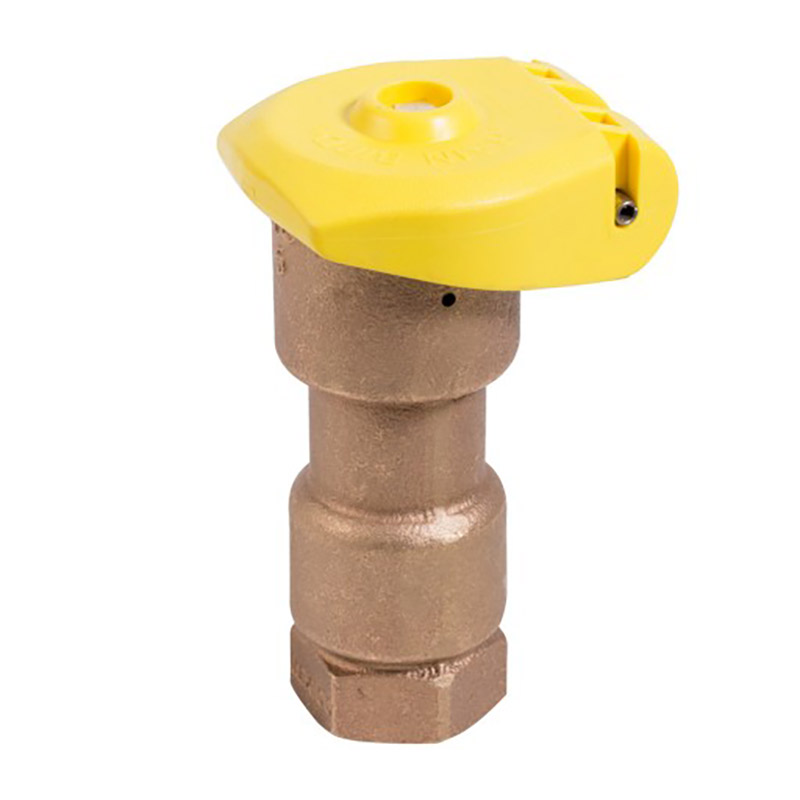 1in. 1-Piece Quick Coupler Valve with Locking Rubber Cap