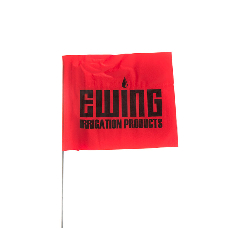 Red 21-Inch Stake Flags - 100 Count