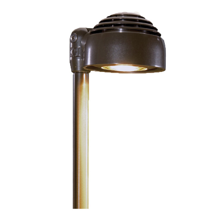 RW 3LED Zoning and Dimmable Plus Color 12 Inch Riser Path Light In Bronze Metallic
