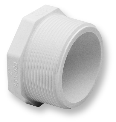 3/4-inch Threaded Sch. 40 PVC Plug