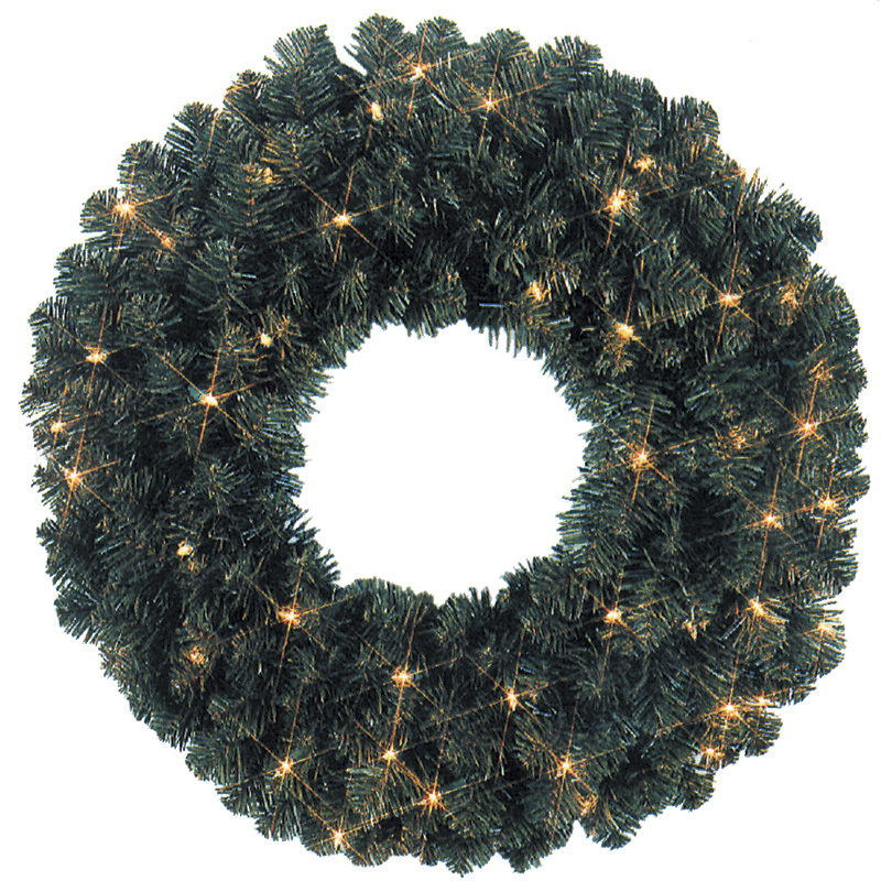 48-inch Diameter Pre-Lit LED Wreath