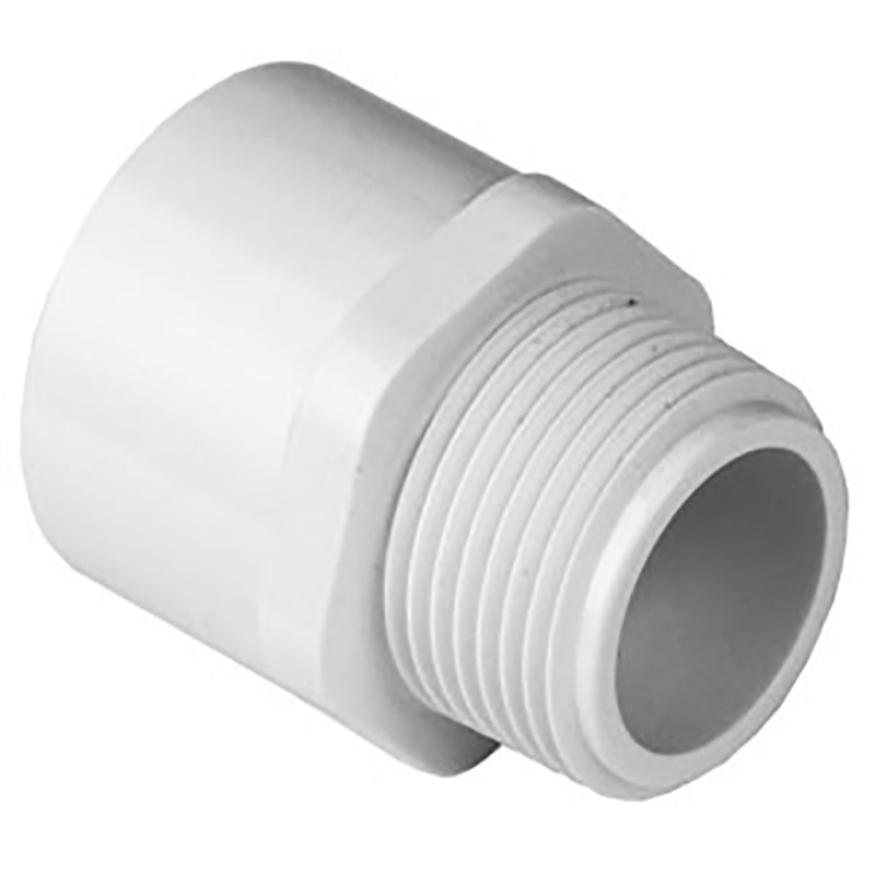 3/4-inch Slip x Thread Sch. 40 PVC Male Adapter