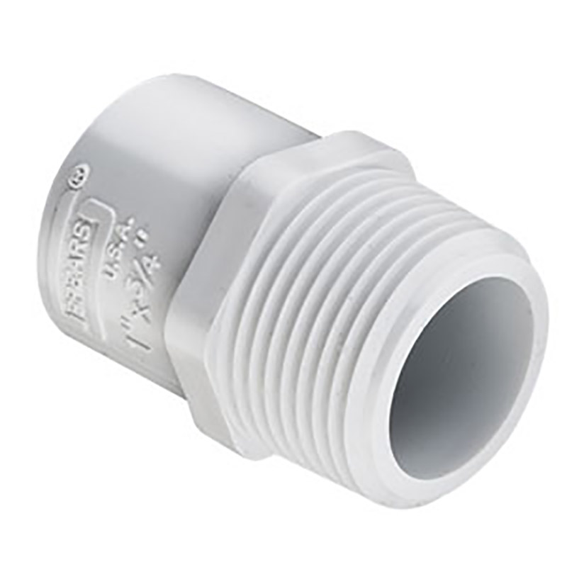 3/4-inch Slip x 1-inch Thread Sch. 40 PVC Reducing Male Adapter
