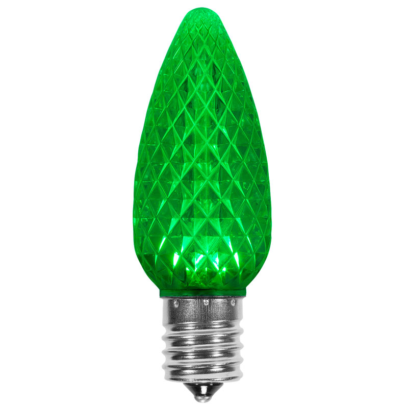 Green C9 SuperBrite LED Bulb