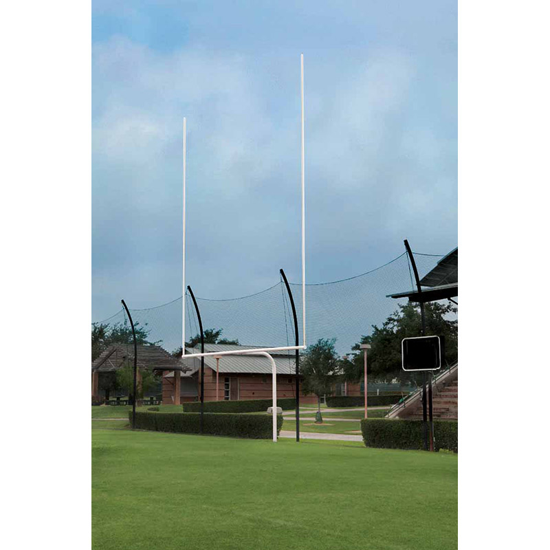 High School White Goal Posts with 20 Foot Uprights