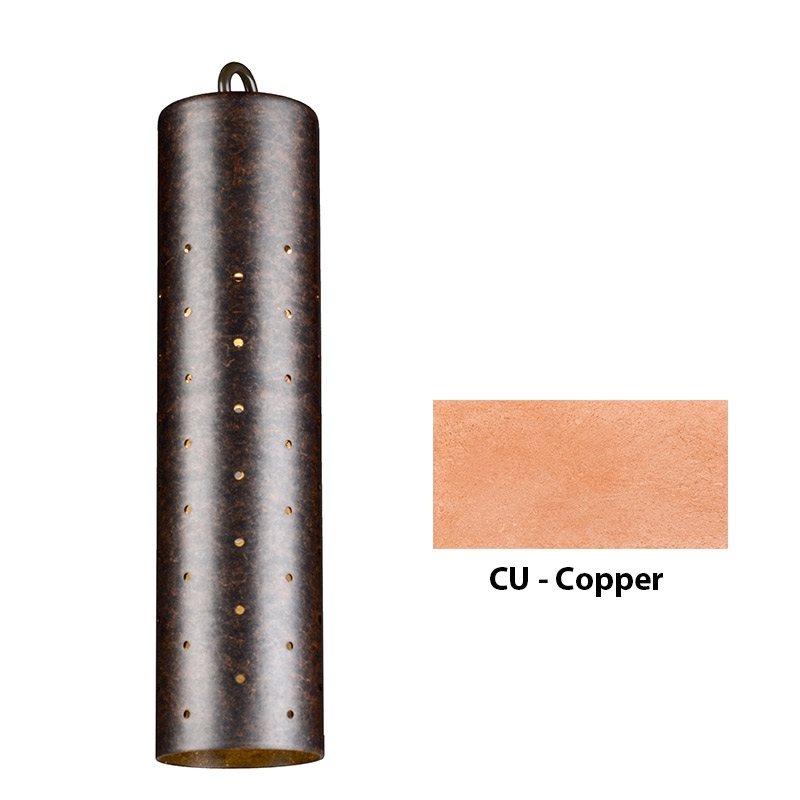 VE Zoning and Dimmable Plus Color Perforated Sleeve Down Light In Copper