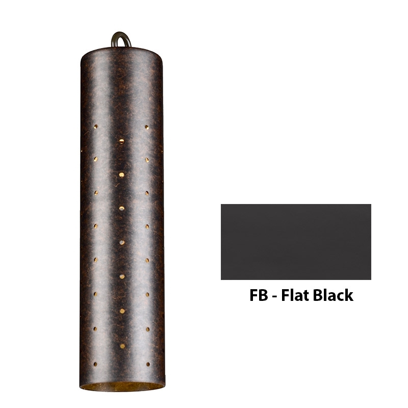 VE Zoning and Dimmable Plus Color Perforated Sleeve Down Light In Flat Black