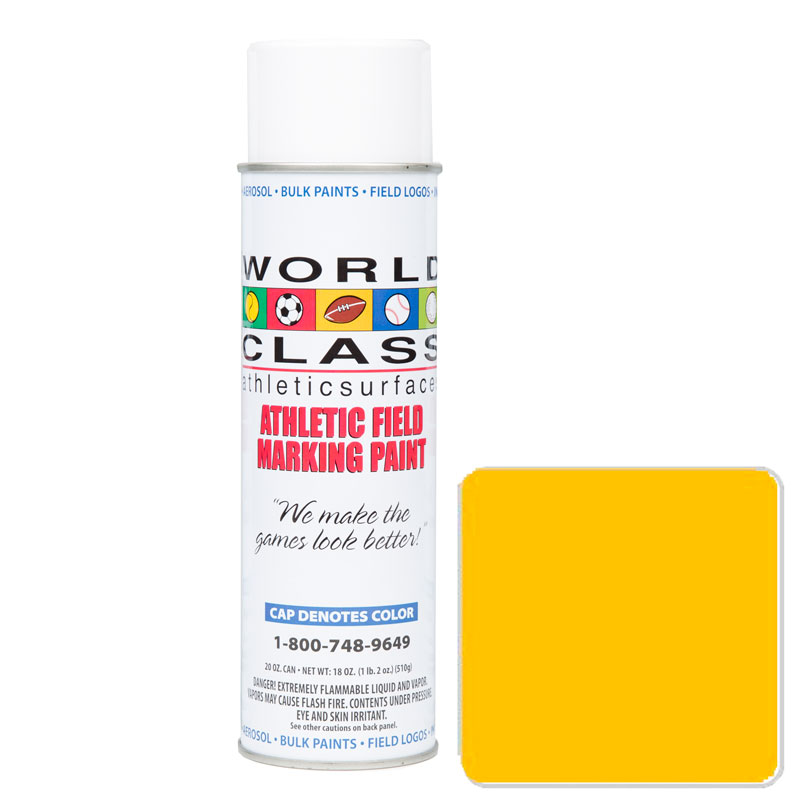 Yellow Athletic Aerosol Paint – 20 oz.