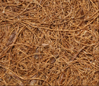 A close-up of a coir mat