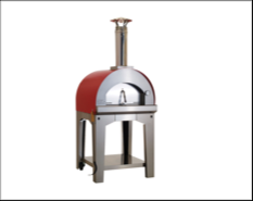 A stand-alone outdoor pizza oven