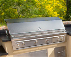 A large outdoor grill