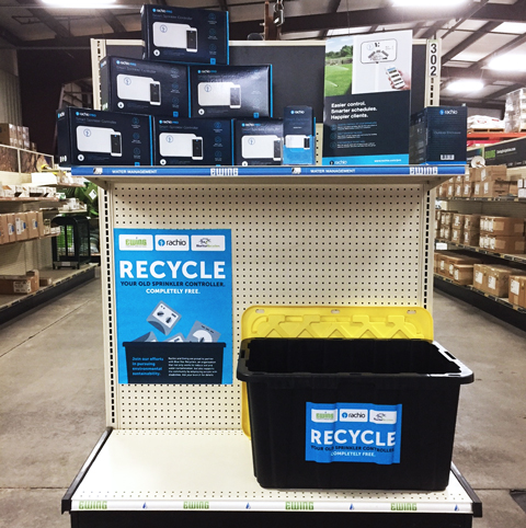 Example of controller recycling bin at a Ewing location