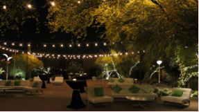 Bistro lighting outdoors