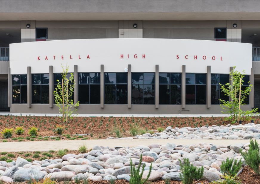 Image of Katella High School and landscape