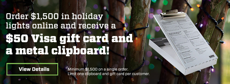 Holiday Lighting Free Clipboard and Visa Gift Card