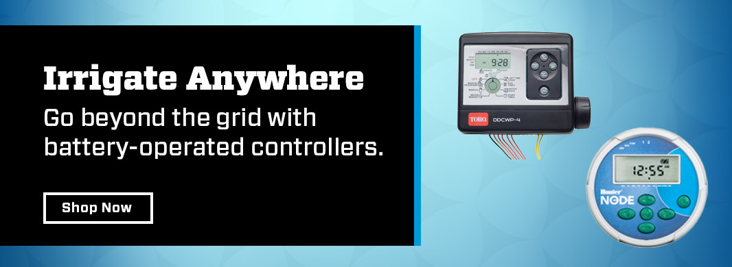 Go beyond the grid with battery operated controllers