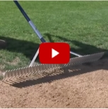 A screenshot of an infield rake