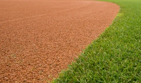 The edge of an infield